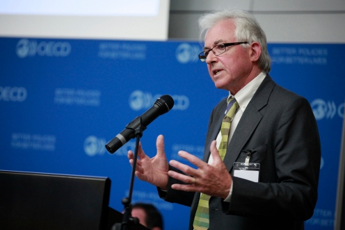 John speaking at the OECD launch of the study of renewable energy as a development option in rural regions